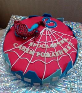 Как украсить торт. Торт Человек-паук – видео-шаг 1