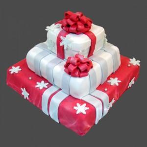 Торт из мастики Подарок – видео-шаг 1