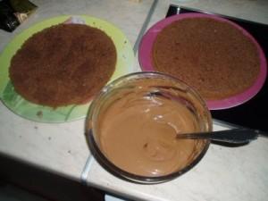 Шоколадная пропитка для бисквита-шаг 1