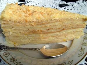 Заварной крем с маслом для торта Наполеон-шаг 1