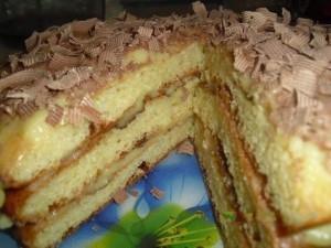 Творожный торт Пышный с заварным кремом