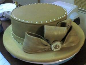Элегантный торт из мастики Шляпа-ша