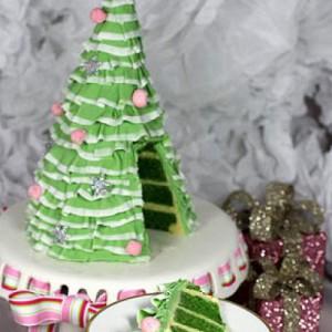 Новогодний торт Елочка. Видео по украшению десерта
