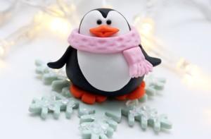 Пингвин из мастики – мастер-класс