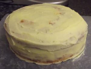 Торт из мастики Корзина. Мастер-класс-шаг 1