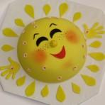 Солнце из мастики. Видео-шаг 2