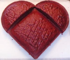 Торт Сердце ко дню Святого Валентина. Красивый торт с легким оформлением – мастер-класс-шаг 3