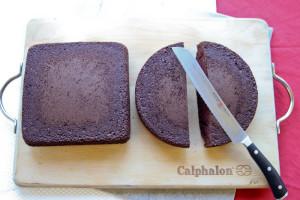 Торт Сердце ко дню Святого Валентина. Красивый торт с легким оформлением – мастер-класс-шаг 1