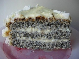Кокосово-маковый торт простого приготовления