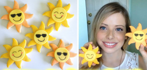 Солнце из мастики. Видео-шаг 1