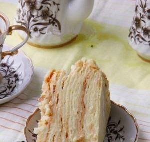 Торт Наполеон с мороженым – классический торт с новым вкусом!