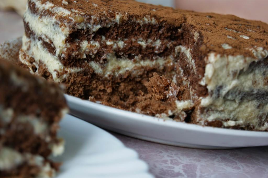 Тортик манник с какао фото