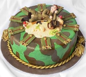 Торт на 9 мая. Как украсить торт ко дню Победы?-шаг 2