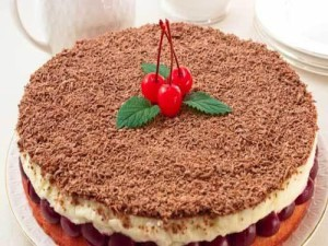 Вишневый торт с кремом из маскарпоне Наслаждение