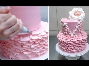Как украсить свадебный торт – видео-шаг 2