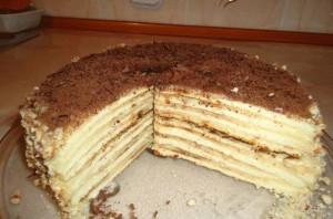 Простой торт на сковороде с заварным кремом