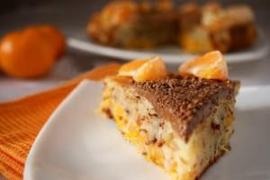 Мандариновый торт с шоколадом