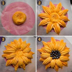 Украшения из айсинга – цветы. Второй вариант-шаг 2