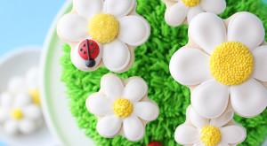 Торт Ромашковое поле. Как украсить домашний торт – мастер-класс
