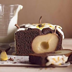 Эффектный шоколадный торт с грушами – красиво, просто, вкусно!