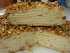 Заварной крем для торта Наполеон