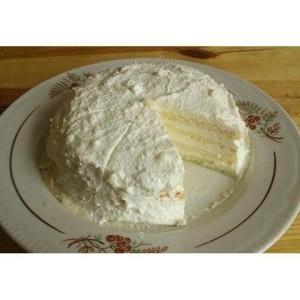 Творожный торт с творожным кремом, для тех, кто на диете