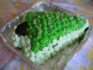 Как сделать зеленый крем для торта?
