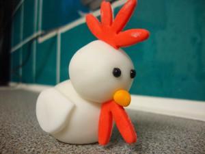 Как украсить новогодний стол на Новый год Петуха?  Сделайте цыпленка из мастики!-шаг 1