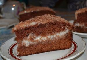 Сметано-шоколадный торт Объедение