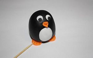 Животные из мастики – пингвин. Мастер-класс-шаг 10