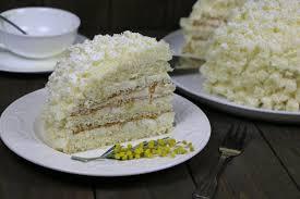 Бисквитный торт Мимоза со сливочным кремом